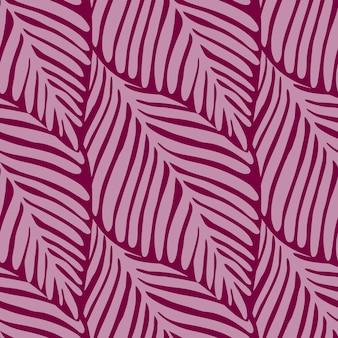 抽象的なピンクのジャングルのシームレスなパターン。エキゾチックな植物。トロピカルプリント、ヤシの葉ベクトル花の背景。