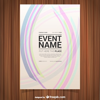 Abstract pink lines poster