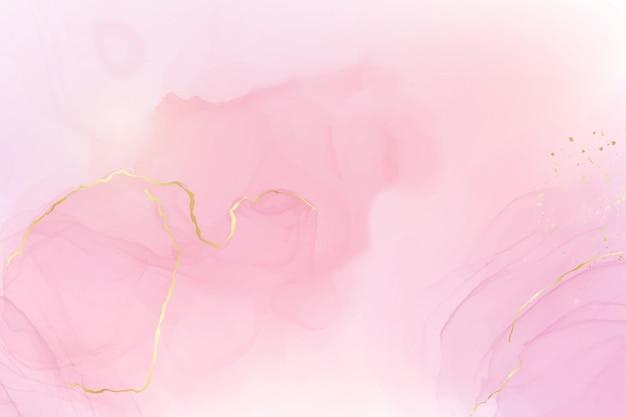 抽象的なピンクの液体の水彩画の背景