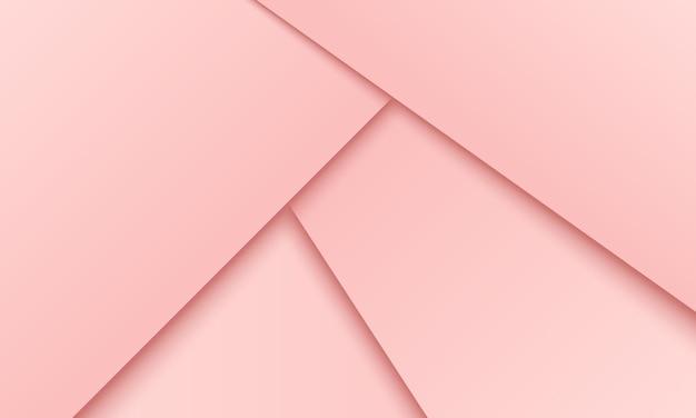 レイヤーの背景に重なる抽象的なピンクの紙。ビジネス広告のためのデザイン。