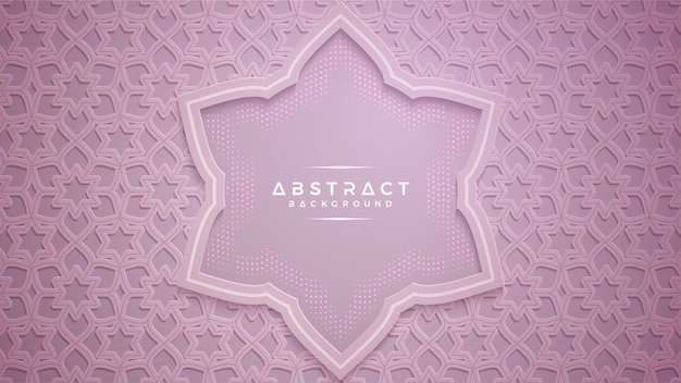 Abstract pink papercut textured background.