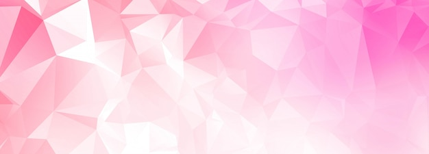 Abstract pink polygon banner background