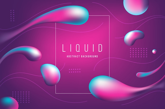 Abstract pink and purple liquid bubble banner and background