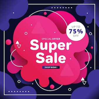 Abstract pink sales background