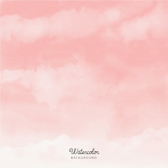Abstract pink sky watercolor background