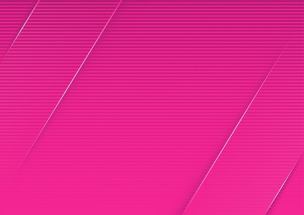 Abstract pink striped background with diagonal 3d stripes
