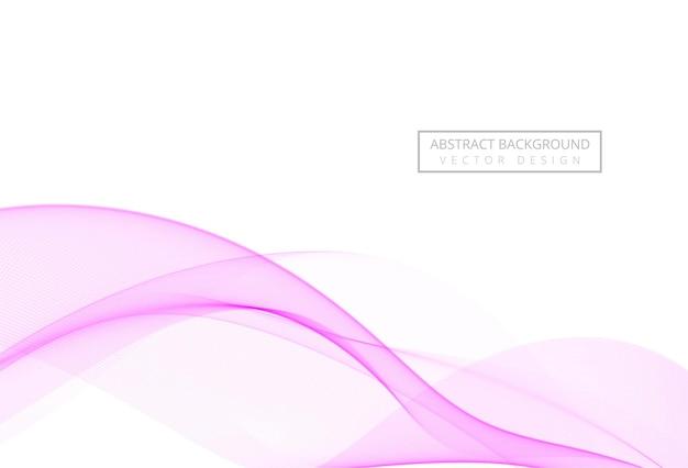 Абстрактная розовая стильная плавная волна на белом