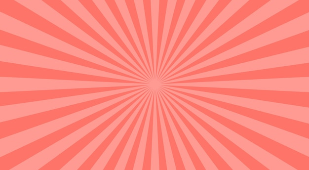 Abstract pink sunbeams background.  illustration.