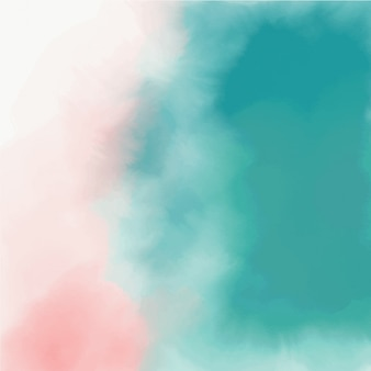 Abstract pink and turquoise watercolor texture