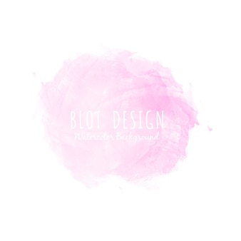 Абстрактная розовая акварель
