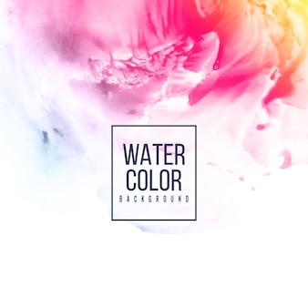 Abstract pink watercolor colorful background