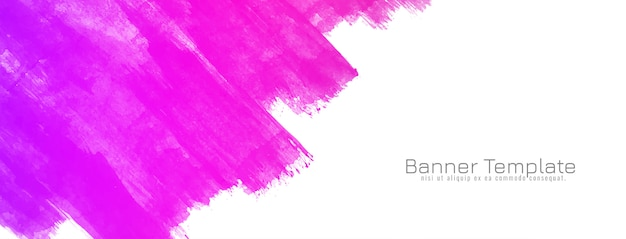 Abstract pink watercolor design banner