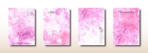 Абстрактная розовая акварель ручная роспись поверхности коллекции