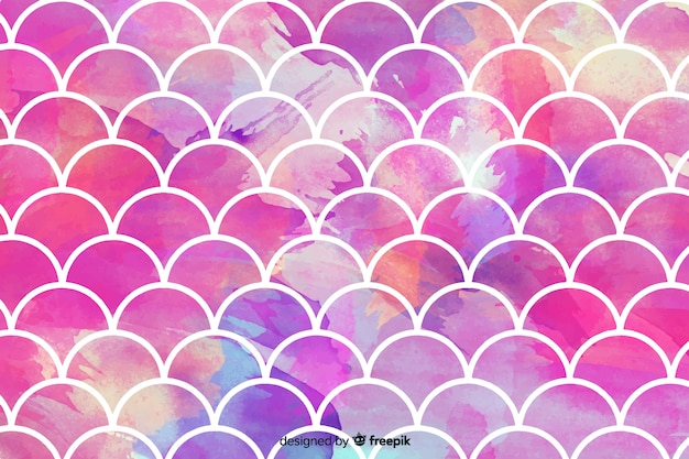 Abstract pink watercolor mosaic background