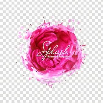 Абстрактный розовый акварельный дизайн сальса на прозрачном фоне