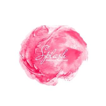 Абстрактный розовый фон с акварелью