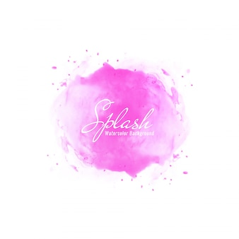 Abstract pink watercolor splash design background