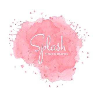 Abstract pink watercolor splash design