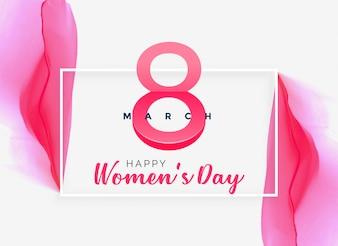 Абстрактный розовый акварельный женский день фон
