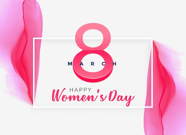 Abstract pink watercolor women's day background