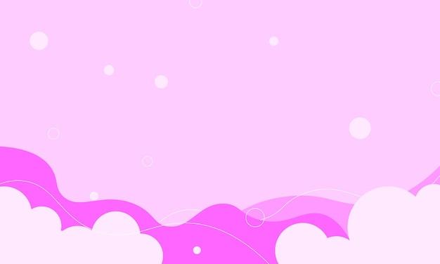 Абстрактная розовая волна, облако и фон круга. лучший умный дизайн для вашего бизнеса.