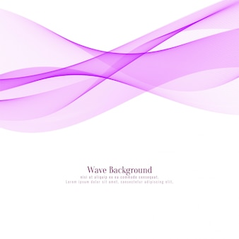 Abstract pink wave stylish background