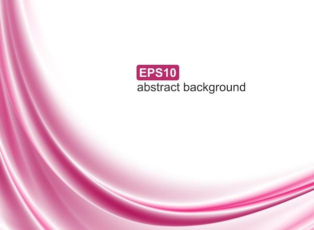 抽象的なピンクの波の背景。