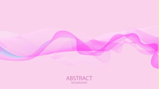 Abstract pink waves stylish background design