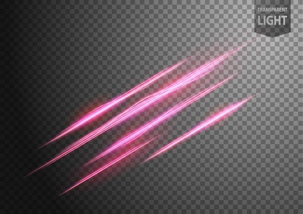 Abstract pink wavy line of light