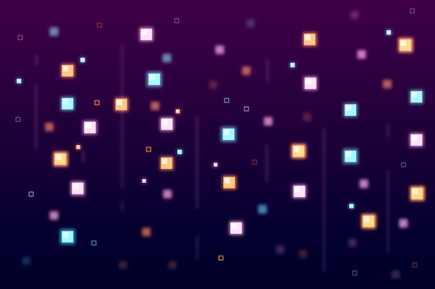 Abstract pixel rain background