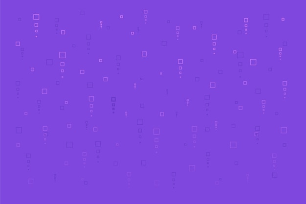 Abstract pixel rain on violet background