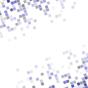 抽象的なピクセルの四角形のコーナーデザインの背景 - 丸い斜めの四角形からのベクトル図
