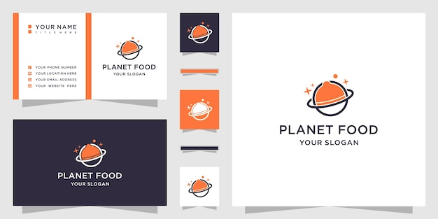 Abstract planet and logo design and business card