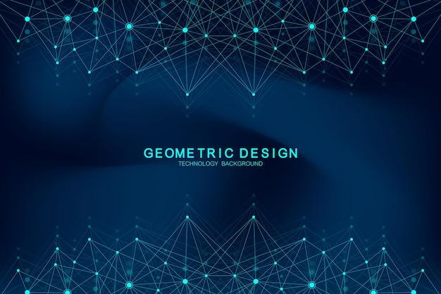 接続された線と点を持つ抽象的な神経叢の背景。 plexusの幾何学的効果化合物を含むビッグデータ。 lines plexus、最小配列。デジタルデータの視覚化。ベクトルイラスト。