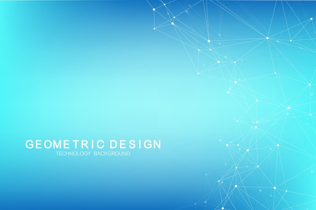 Abstract plexus background with connected lines and dots. plexus geometric effect. big data complex with compounds. lines plexus, minimal array. digital data visualization. vector illustration.