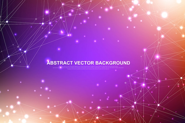 Abstract plexus background with connected lines and dots. plexus geometric effect big data with compounds. lines plexus, minimal array. digital data visualization. illustration