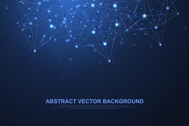 Abstract plexus background with connected lines and dots. plexus geometric effect big data with compounds. lines plexus, minimal array. digital data visualization. vector illustration.