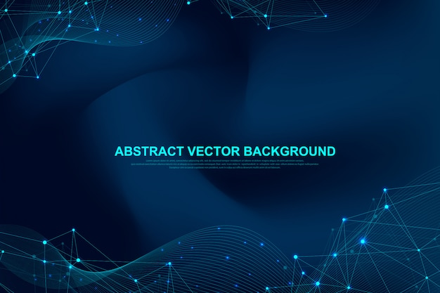 Abstract plexus background with connected lines and dots. plexus geometric effect big data with compounds. lines plexus, minimal array. digital data visualization.