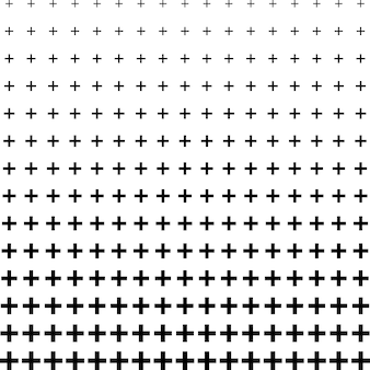 Abstract plus shape pattern halftone background