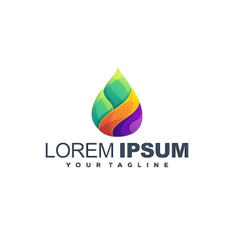 Abstract pointer color logo design