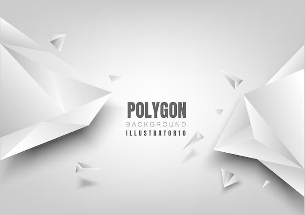と抽象的なポリゴンの背景