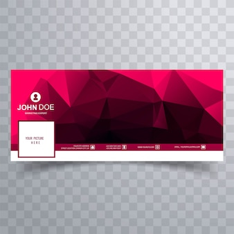 Abstract polygon facebook banner