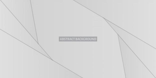 Абстрактные многоугольники с тенью на сером фоне градиента