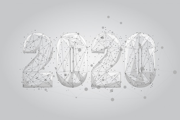 Abstract polygonal 2020