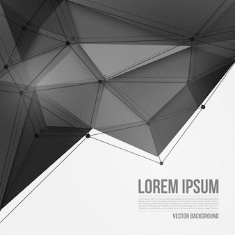 Abstract polygonal 3d vector technology background