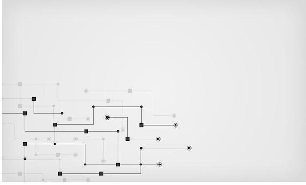 抽象的な多角形の背景と点と線を結ぶグローバルネットワーク技術テンプレート