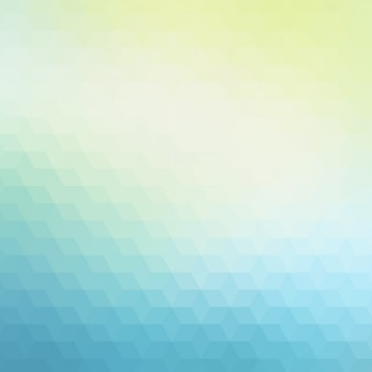 Abstract polygonal background in blue and green tones