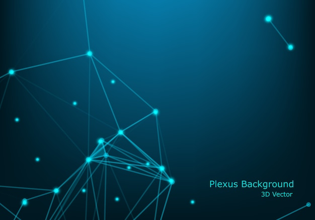 Abstract polygonal background, geometrical backdrop with connecting dots, lines, triangles for global web, connection.
