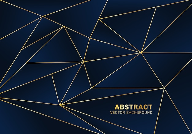 Abstract polygonal background luxury style