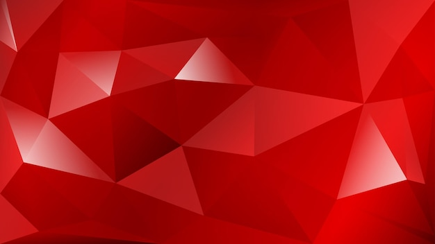 Abstract polygonal background of many triangles in red colors